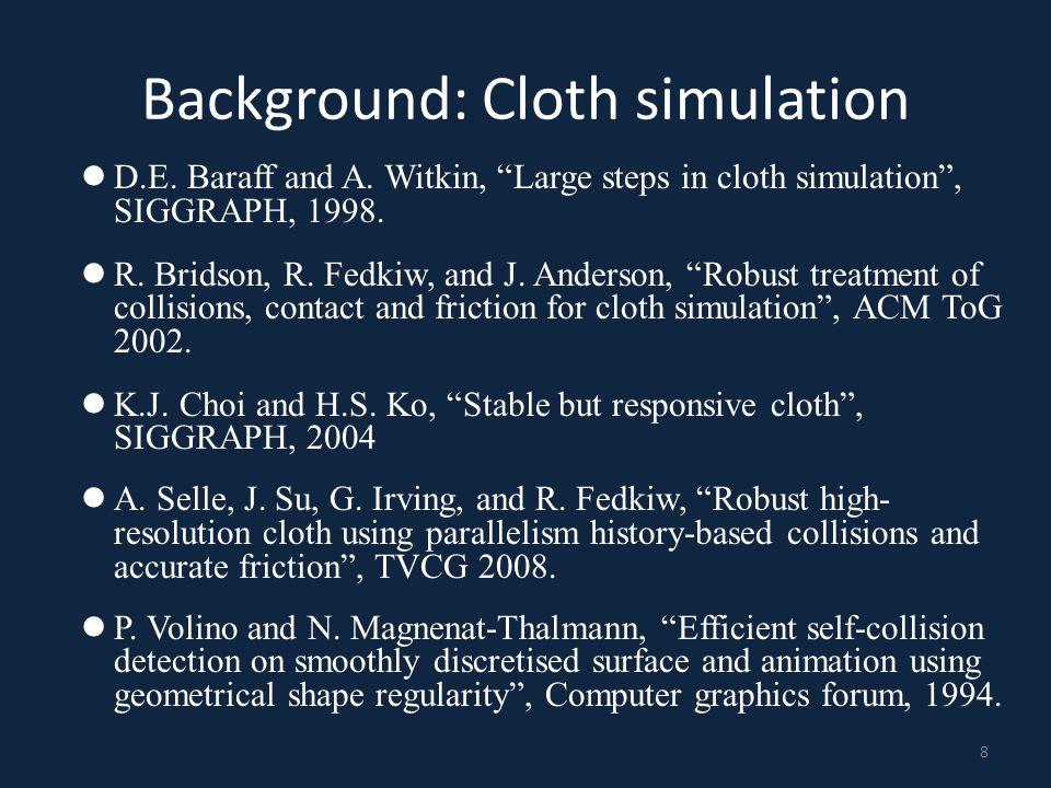 Background: Continuous collision detection M.