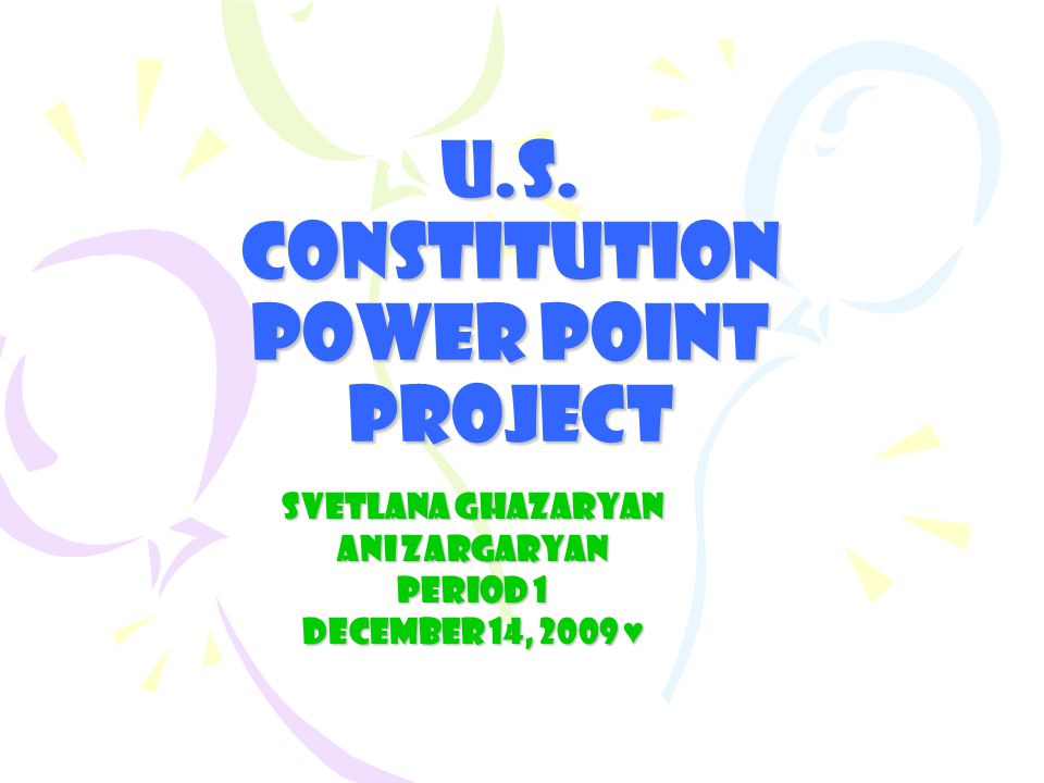 US Constitution The Constitution of the United States of America is the supreme law of the United States.