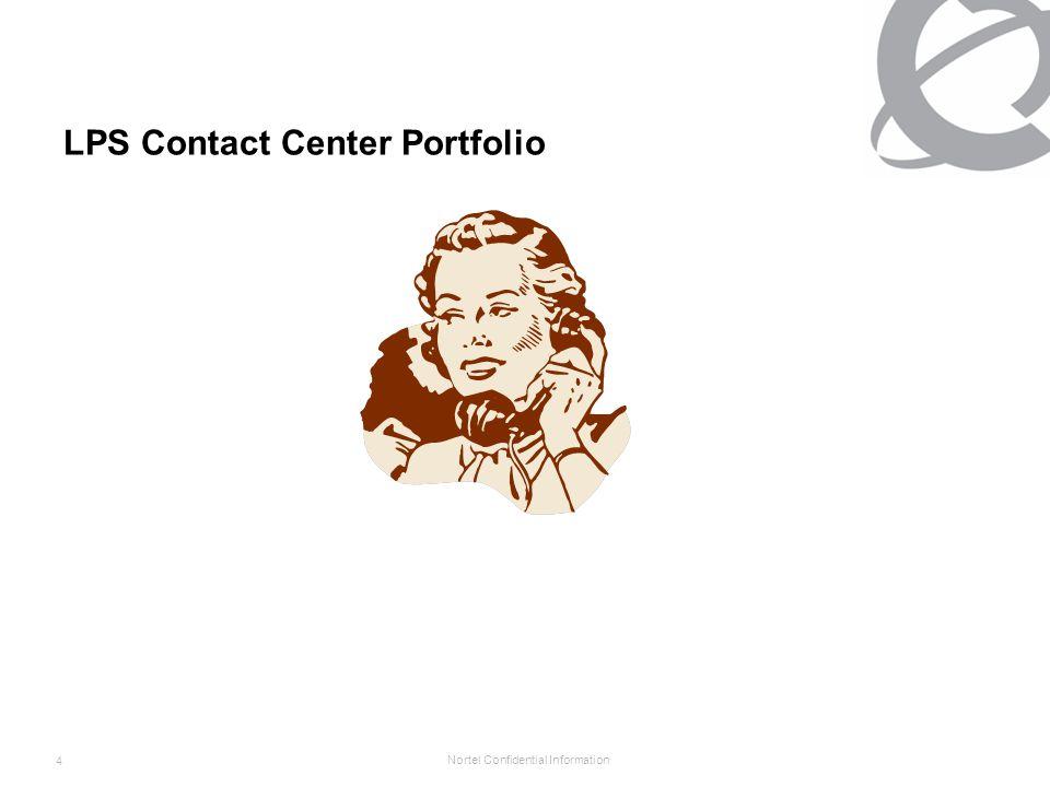Nortel Confidential Information 4 LPS Contact Center Portfolio