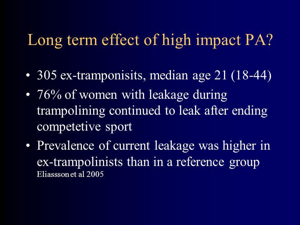 Long term effect of high impact PA.