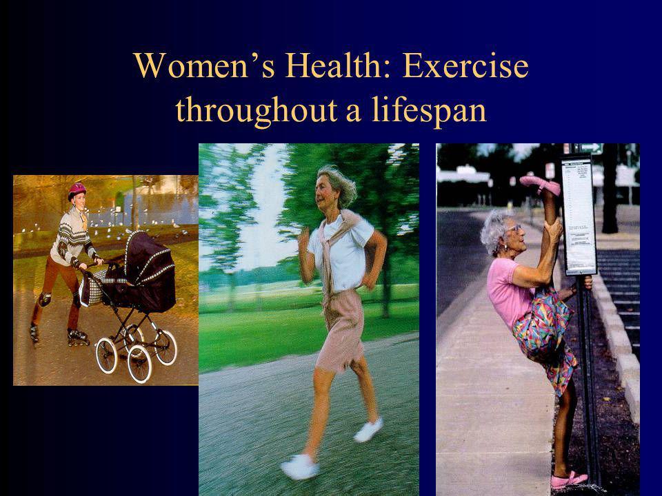 Women's Health: Exercise throughout a lifespan