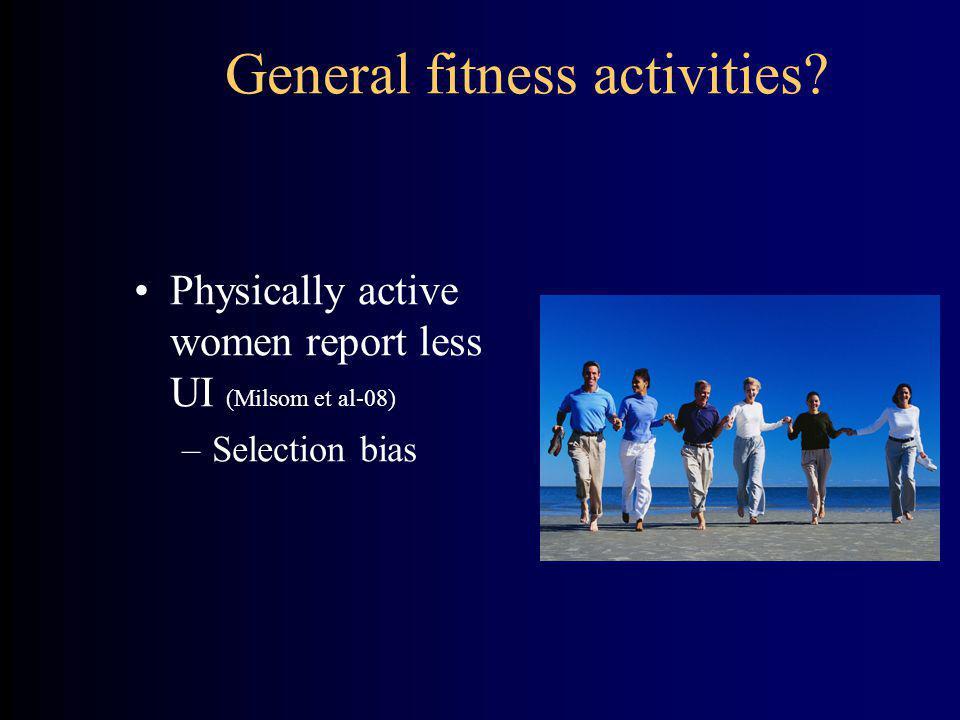 General fitness activities.