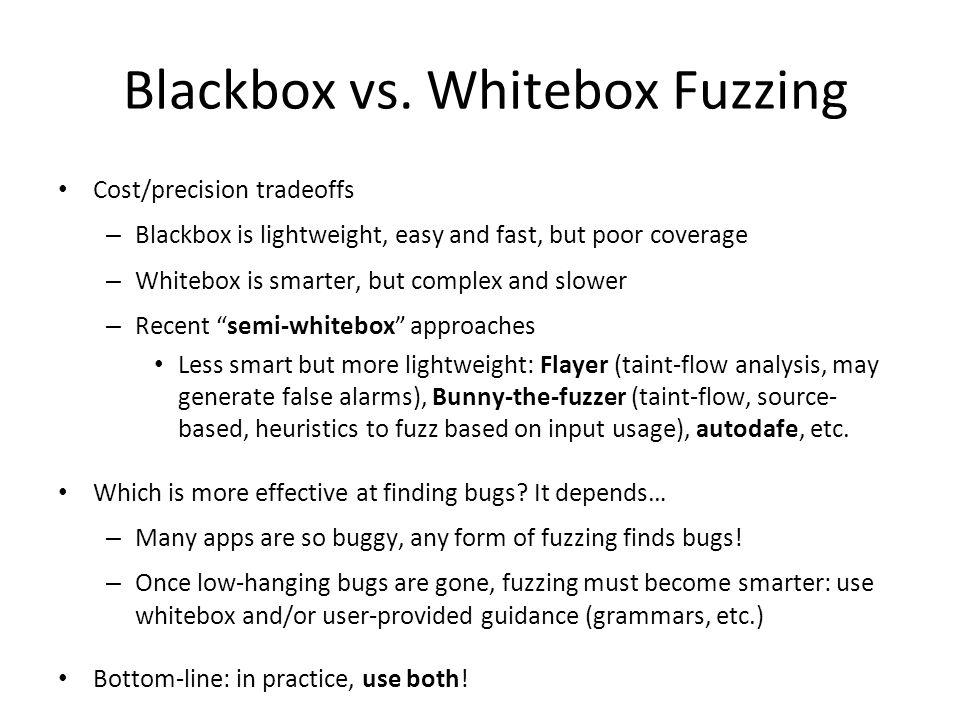 Blackbox vs.