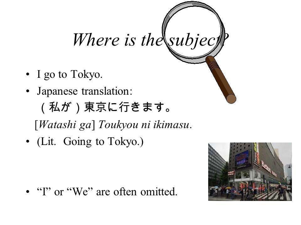 Sentence Structure Japanese: Tanaka-san ga piza o tabemasu.