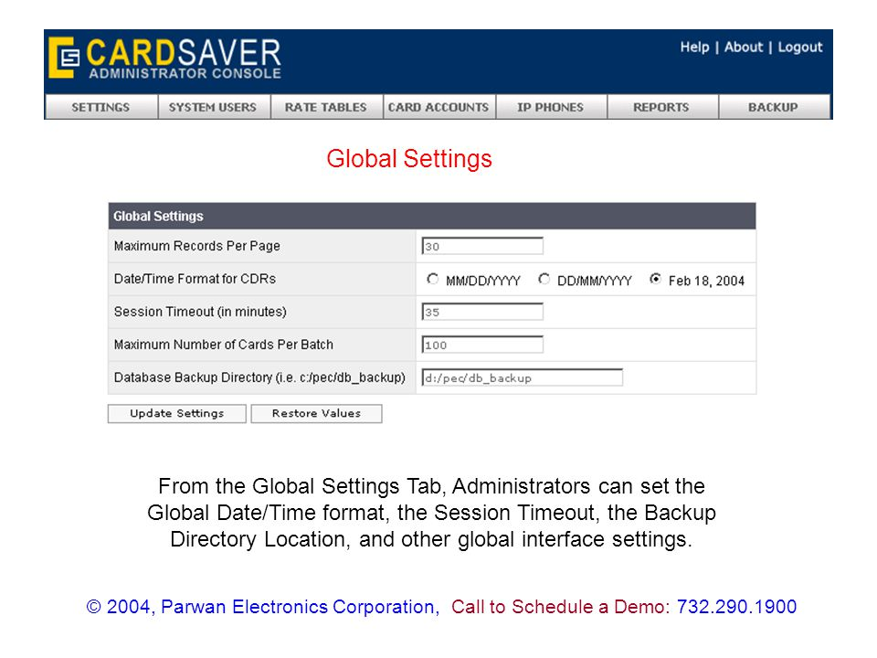 The System Users menu is where you can view and modify all of the settings pertaining to all of the users of the CardSaver Web Interface.