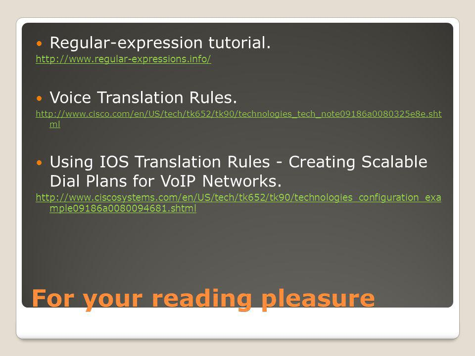 For your reading pleasure Regular-expression tutorial.