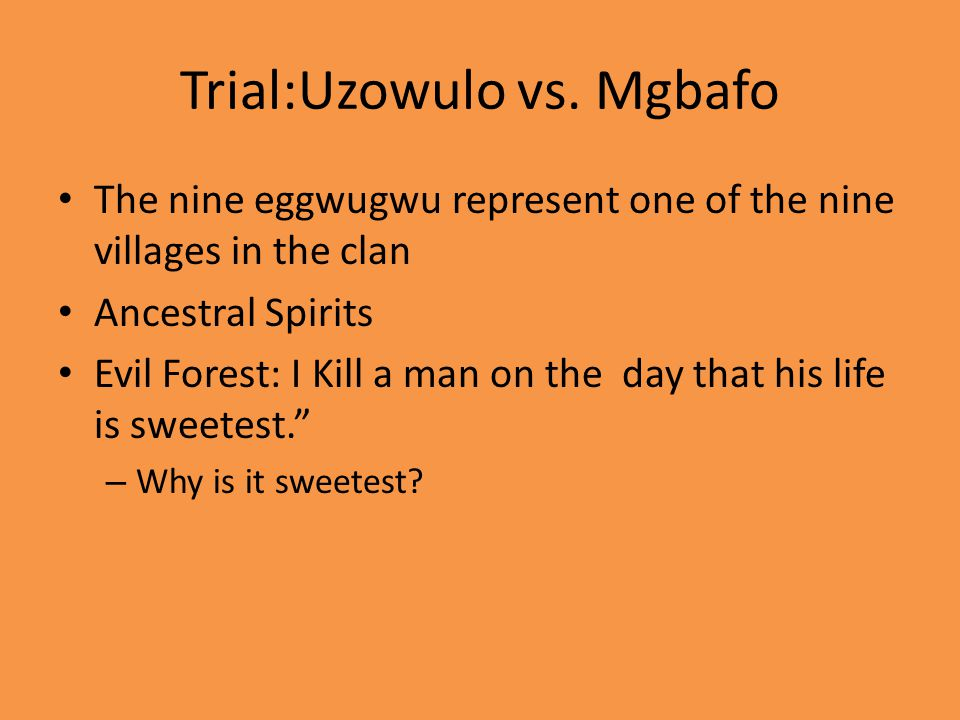 Trial:Uzowulo vs.