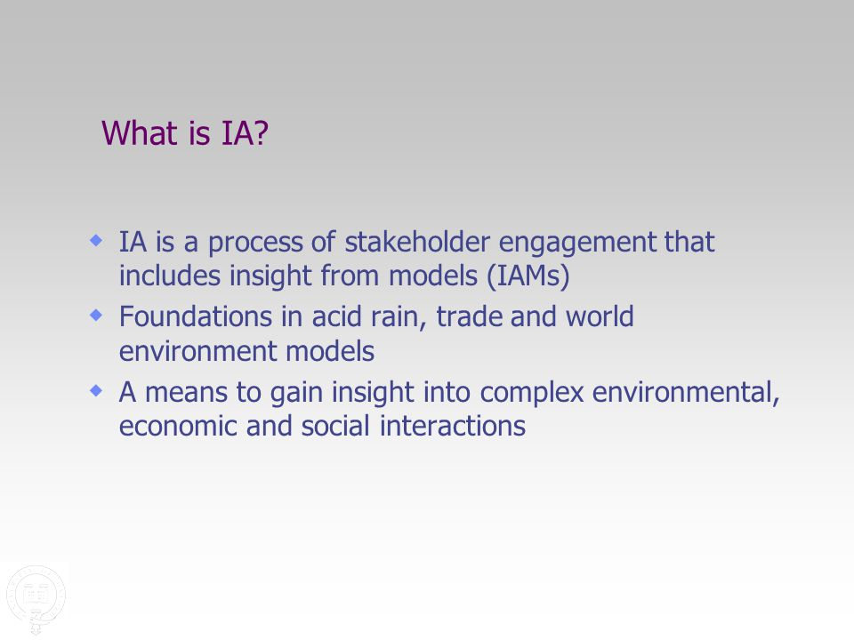 What is IA.