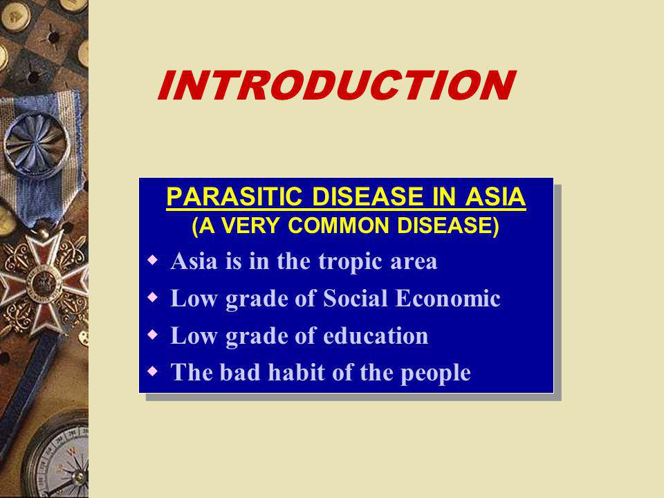 PARASITOLOGY IN THE CLINIC DEPARTMENT OF PARASITOLOGY FACULTY OF MEDICINE PADJADJARAN UNIVERSITY DEPARTMENT OF PARASITOLOGY FACULTY OF MEDICINE PADJAD