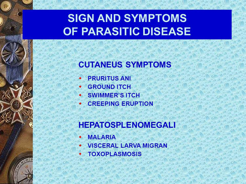 SIGN AND SYMPTOMS OF PARASITIC DISEASE  COUGH AND WHEEZE – MIGRATION OF Ascaris lumbricoides THROUGH THE LUNGS – PNEUMOCYSTIS INFECTION – PARAGONIMIA