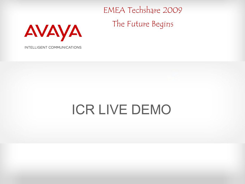 EMEA Techshare 2009 The Future Begins ICR LIVE DEMO