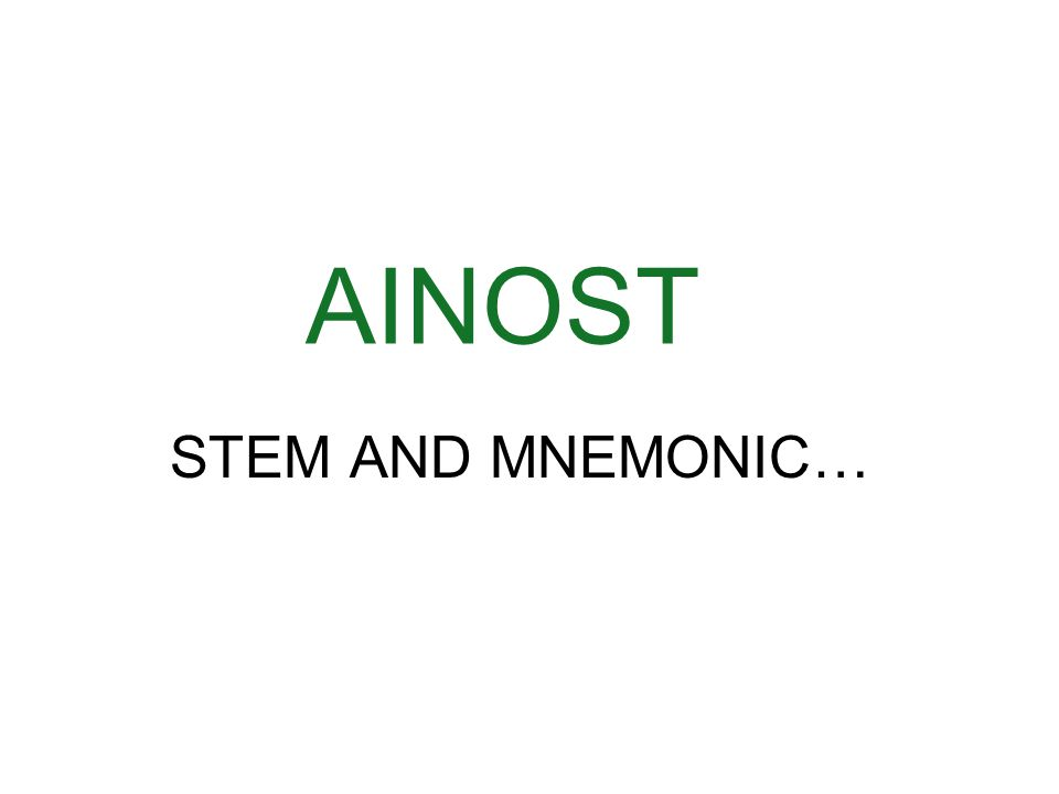 AINOST STEM AND MNEMONIC…