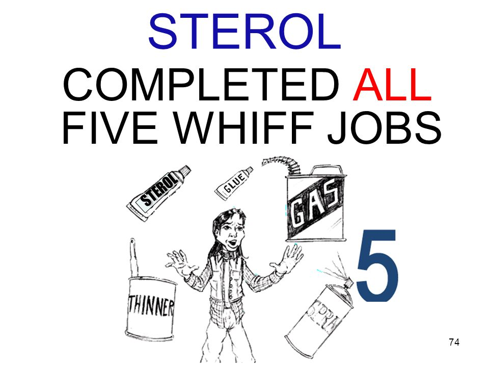 74 STEROL COMPLETED ALL FIVE WHIFF JOBS