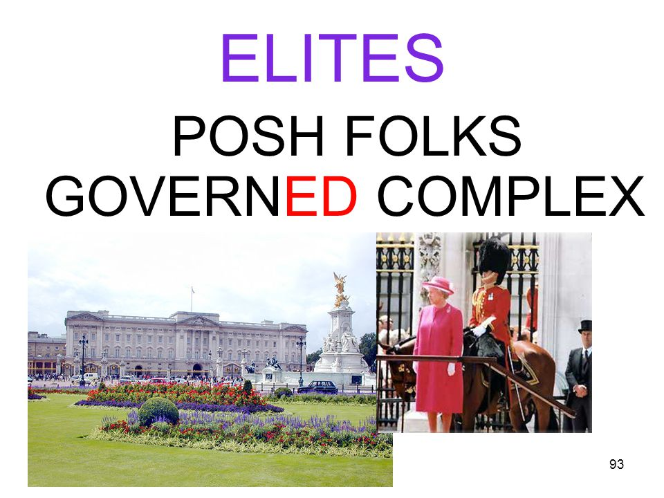 93 ELITES POSH FOLKS GOVERNED COMPLEX