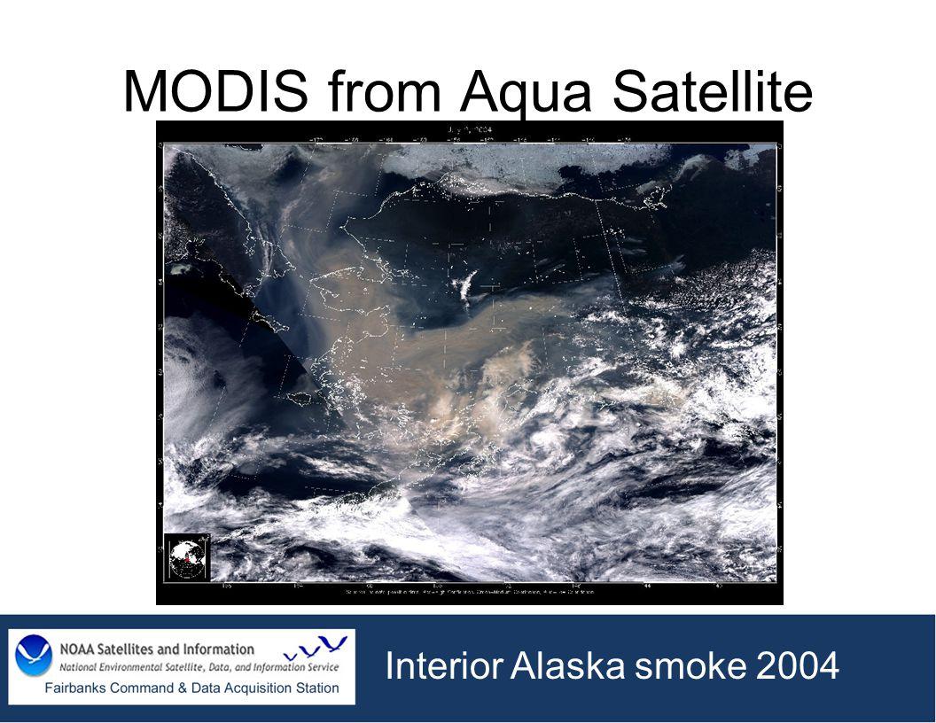 MODIS from Aqua Satellite Interior Alaska smoke 2004