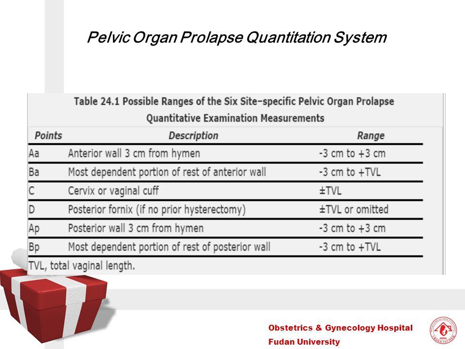 Obstetrics & Gynecology Hospital Fudan University Pelvic Organ Prolapse Quantitation System