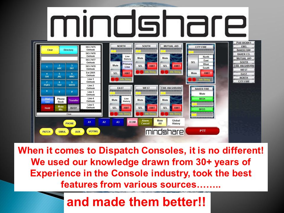 """was only 'A good place to start'! What once was considered """"State-of-the-Art""""…. and made them better!! When it comes to Dispatch Consoles, it is no di"""