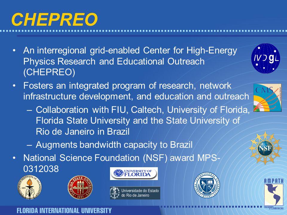 Extending the US-CMS Testbed UCSD Florida Wisconsin Caltech Fermilab FIU FSU Brazil Korea AMPATH