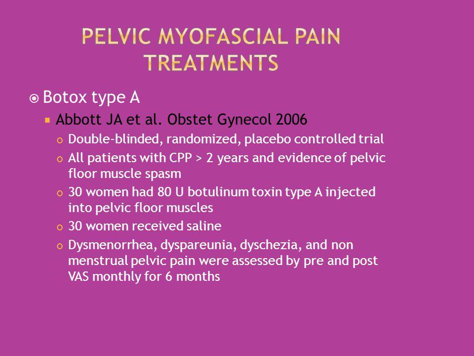  Botox type A  Abbott JA et al.