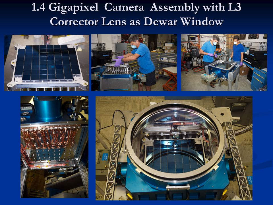 1.4 Gigapixel Camera Assembly with L3 Corrector Lens as Dewar Window