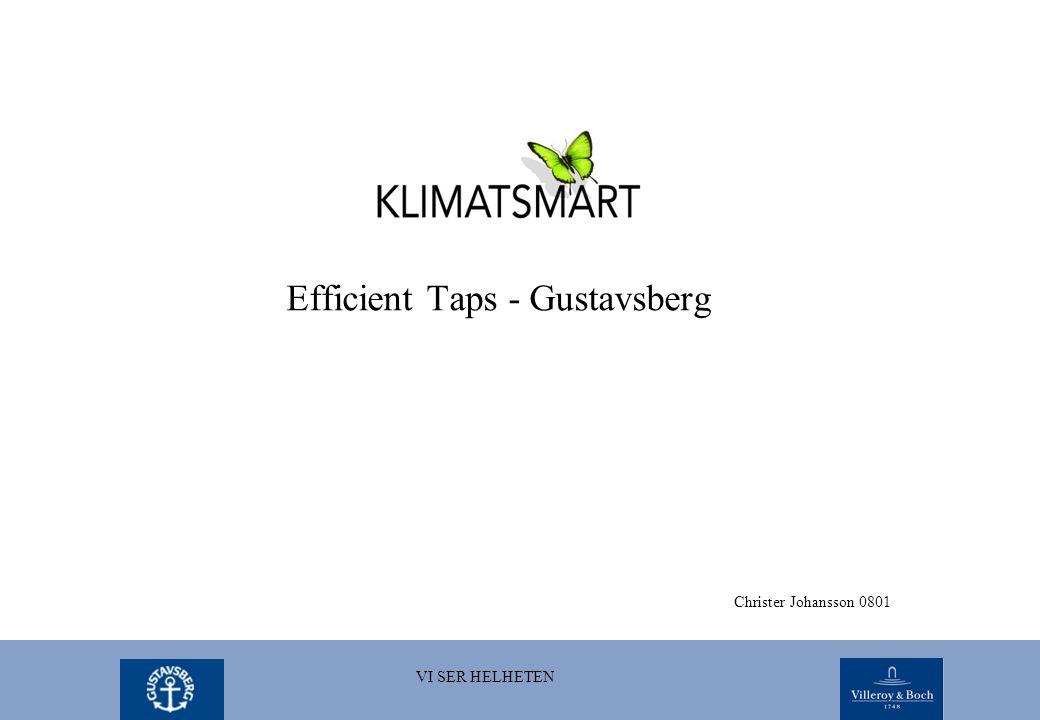 Efficient Taps - Gustavsberg Christer Johansson 0801 VI SER HELHETEN