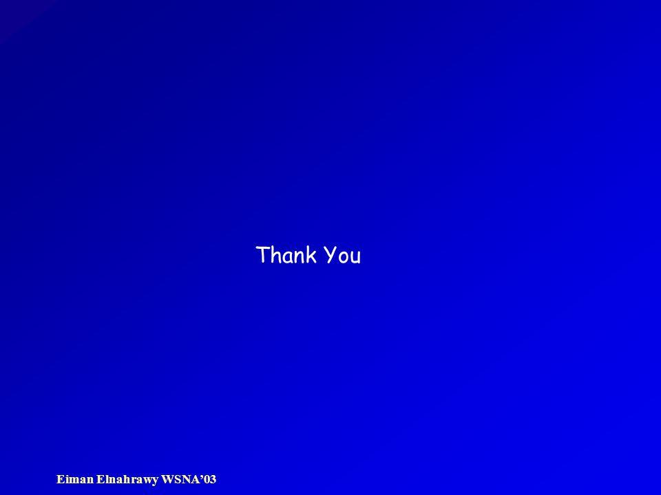 Eiman Elnahrawy WSNA'03 Thank You