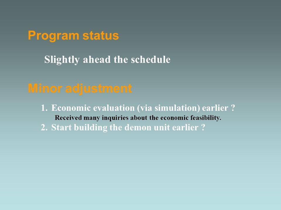 Minor adjustment 1.Economic evaluation (via simulation) earlier .
