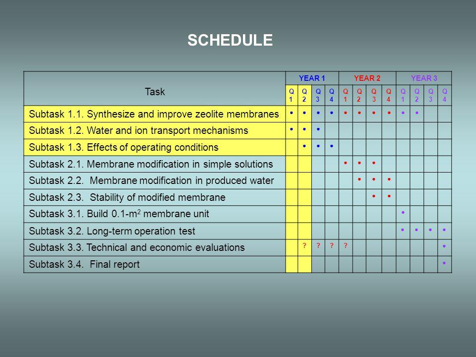 SCHEDULE Task YEAR 1YEAR 2YEAR 3 Q1Q1 Q2Q2 Q3Q3 Q4Q4 Q1Q1 Q2Q2 Q3Q3 Q4Q4 Q1Q1 Q2Q2 Q3Q3 Q4Q4 Subtask 1.1.