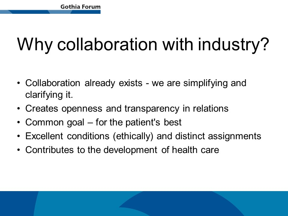 Generell titel Why collaboration with industry.