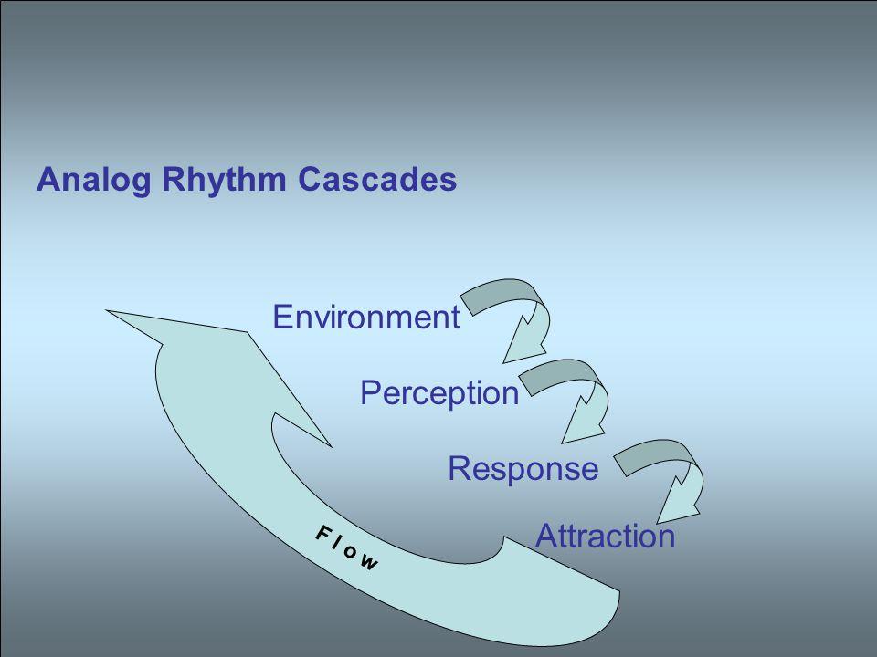 Analog Rhythm Cascades Environment Perception Response Attraction F l o w