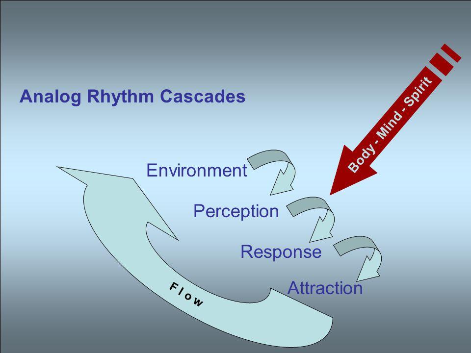Analog Rhythm Cascades Environment Perception Response Attraction F l o w Body - Mind - Spirit
