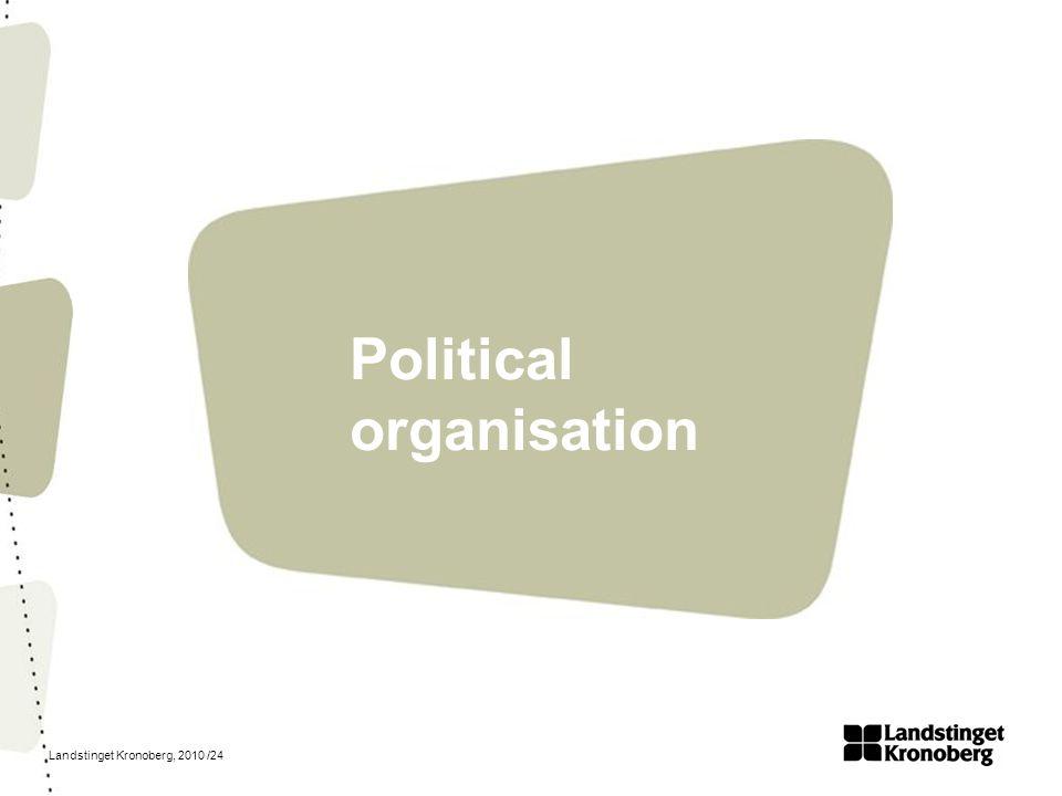 Landstinget Kronoberg, 2010 /24 Political organisation