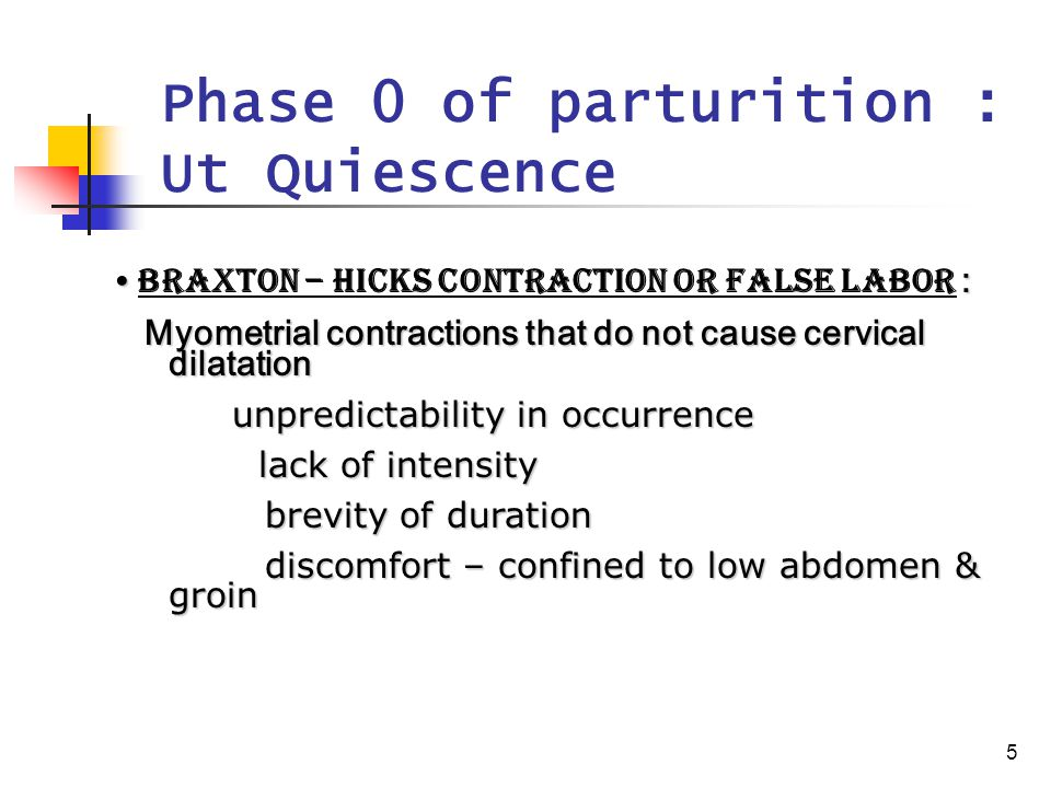 6 Phase 1 of parturition : preparation for labor Uterine awakening or activation Progression of change in Ut during last 6~8 wk of pregnancy.