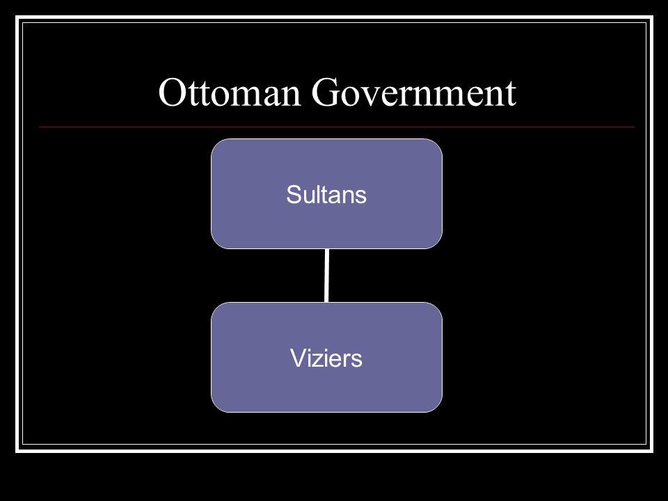 Ottoman Government Sultans Viziers