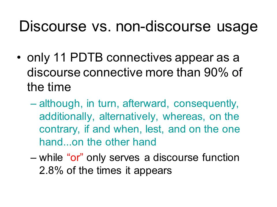 Discourse vs.