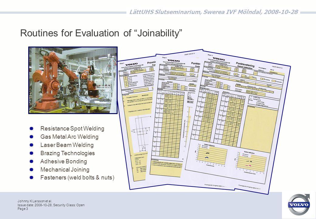 Johnny K Larsson et al.