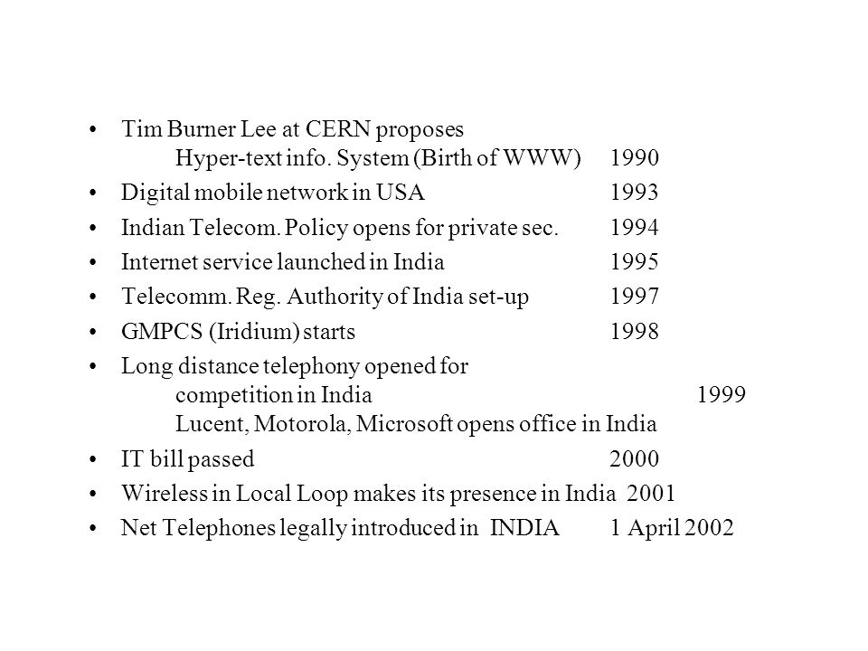 Bibliography www.xdsl.com `The cost of quality in internet-style networks' Amitya Dutta-Roy, IEEE spectrum, Sept.