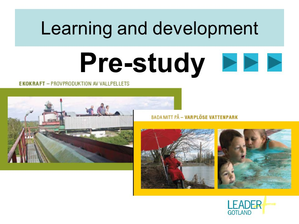 Learning and development Pre-study