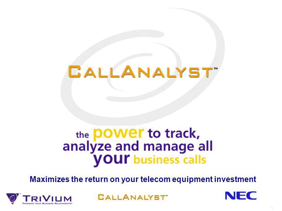 11 CallAnalyst Enterprise Server