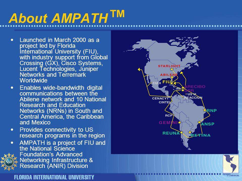 STAR TAP/Star Light APAN/TransPAC†, CA*net, CERN, CERNET/CSTNET/NSFCNET, RBNET/NAUKAnet, GEMnet, HARNET, KOREN/KREONET2, NORDUnet, SURFnet, SingAREN, TANET2 NYC GEANT*, HEANET, NORDUnet, SINET, SURFnet Pacific Wave AARNET, APAN/TransPAC†, CA*net, TANET2 SNVA GEMNET, SingAREN, WIDE (v6) L.A.