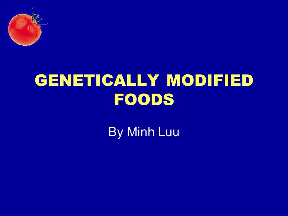 GENETICALLY MODIFIED FOODS By Minh Luu
