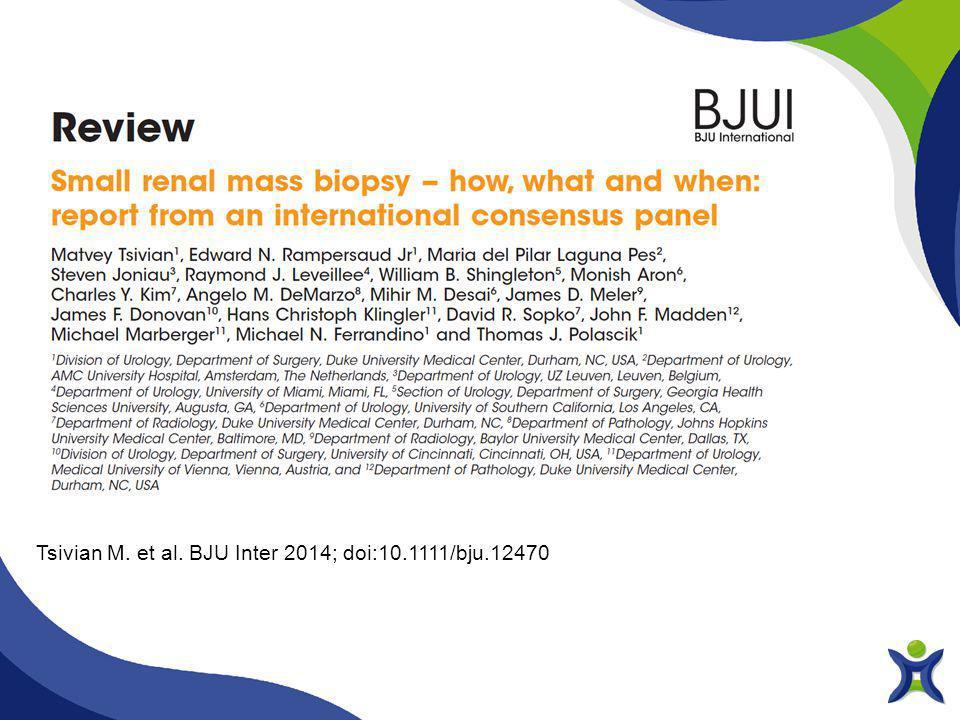 Tsivian M. et al. BJU Inter 2014; doi:10.1111/bju.12470