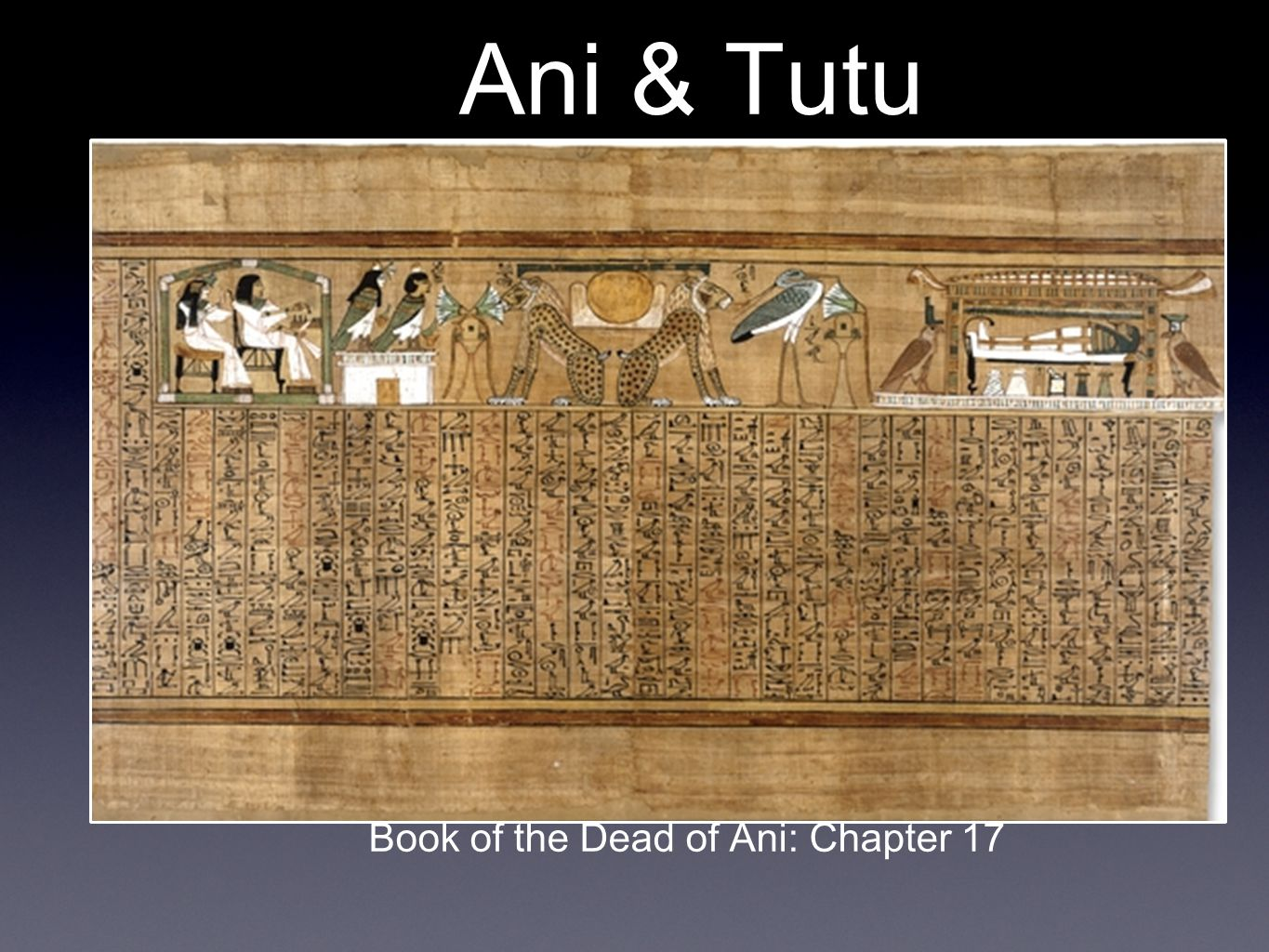 Ani & Tutu Book of the Dead of Ani: Chapter 17