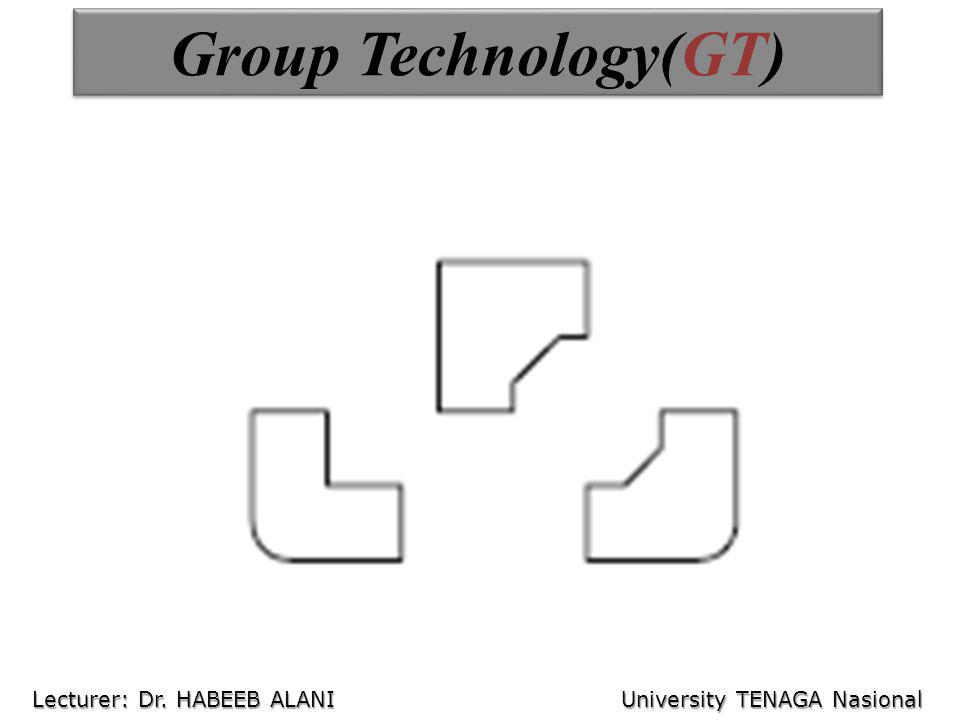 Group Technology(GT) Lecturer: Dr. HABEEB ALANI University TENAGA Nasional