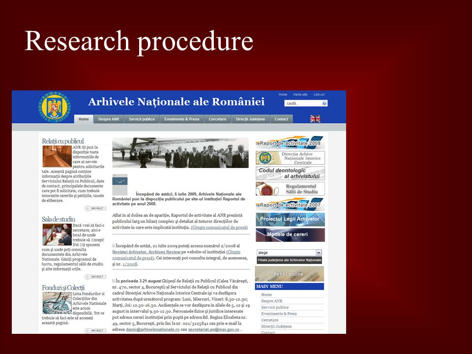 Research procedure