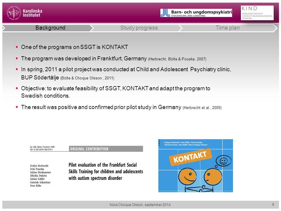  One of the programs on SSGT is KONTAKT  The program was developed in Franktfurt, Germany (Herbrecht, Bölte & Pouska, 2007)  In spring, 2011 a pilo