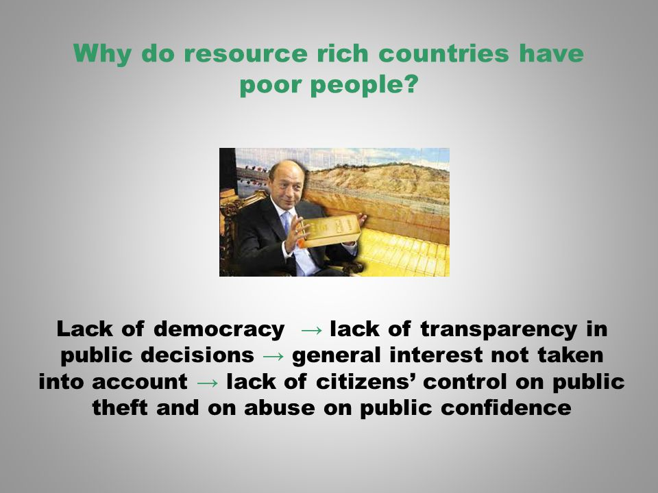 Why do resource rich countries have poor people.