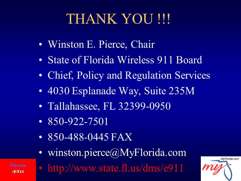 THANK YOU !!. Winston E.