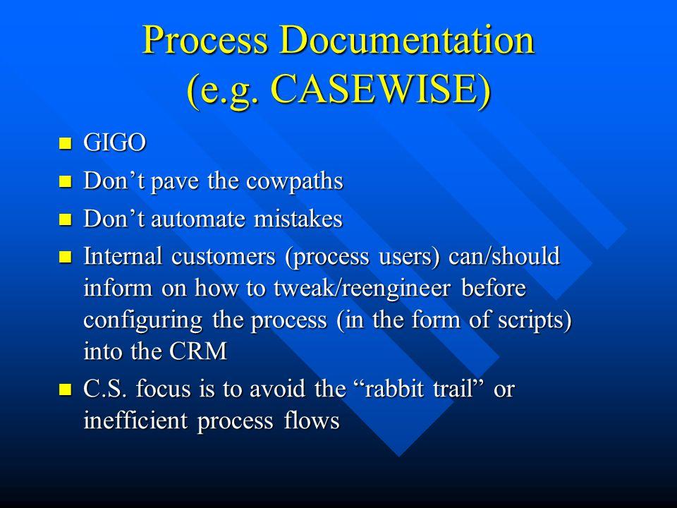 Process Documentation (e.g.