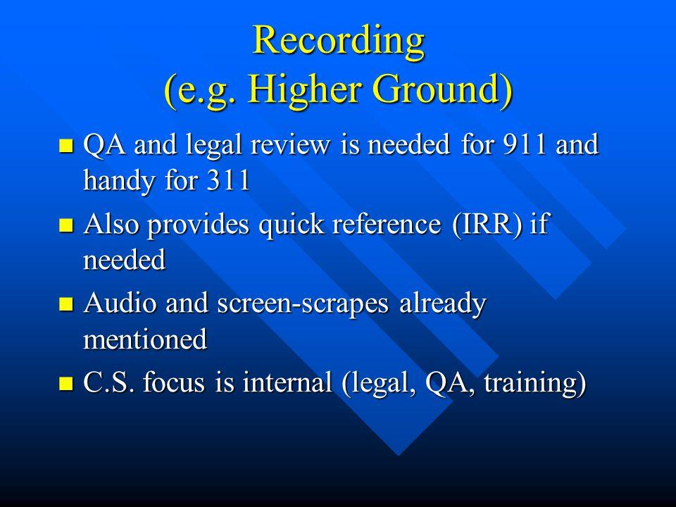 Recording (e.g.